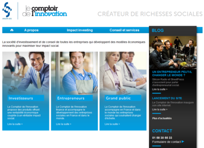 Site comptoir de l'innovation : Impact Investing