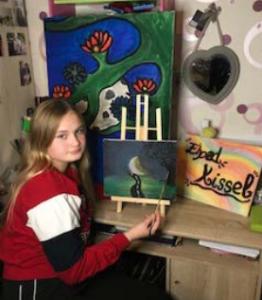 Célia peint