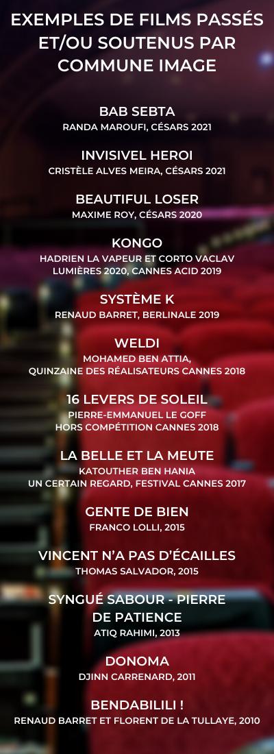 Liste des films passés le GROUPE SOS